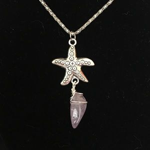 Sea start amethyst pendant